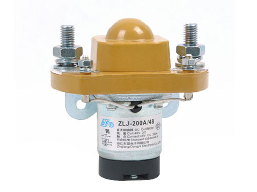 Normal Open 200A DC contactor ZLJ-200A, MZJ-200A